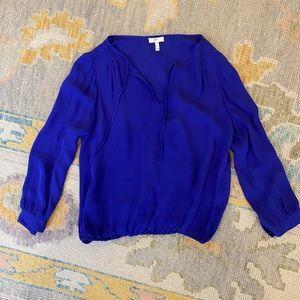 Joke Blue Silk Blouse